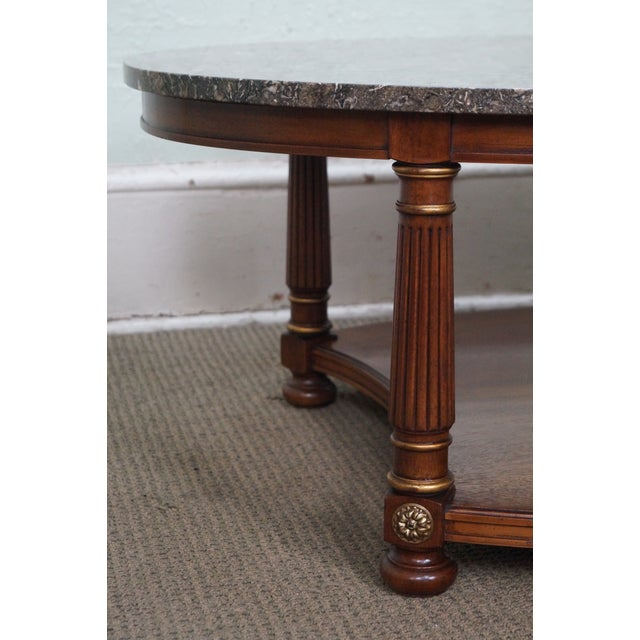 Mahogany Heritage French Empire Style Coffee Table For Sale - Image 7 of 10