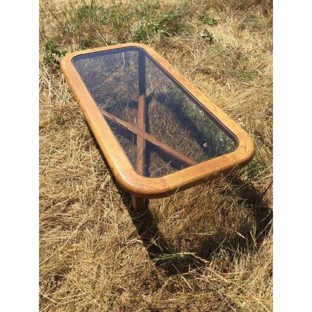 Smoked Glass & Oak Coffee Table - Image 2 of 3