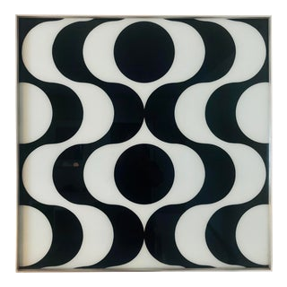 1970s Vintage Space Age Turner Op Art Reverse Glass Wall Art For Sale