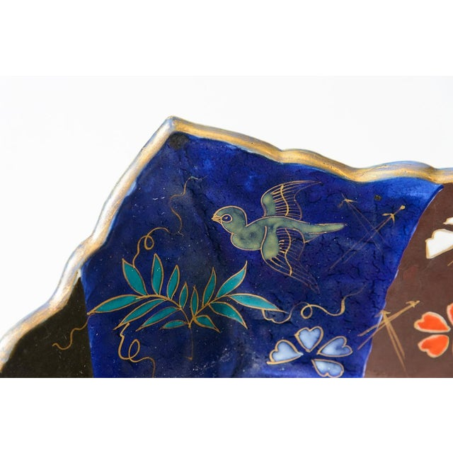 Mid 19th Century C. 1850 Blue and Orange Floral Imari Charger For Sale - Image 5 of 8