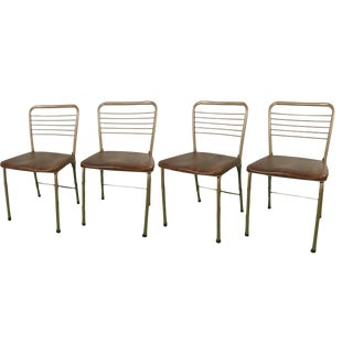 1970s Mid-Century Modern Cosco Fashionfold Chairs - Set of 4 For Sale