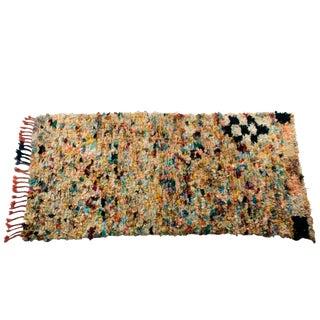 """Vintage Boucherouite Carpet - 7'5"""" X 3'8"""""""