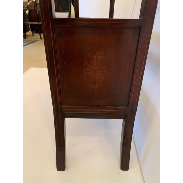 Wood 19th Century Mahogany & Satinwood Book Trough Shelving Unit For Sale - Image 7 of 13