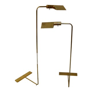 Pair of Cedric Hartman Multi Adjustable Brass Floor Lamps