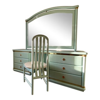 Vintage Italian 80's Lacquered Vanity For Sale