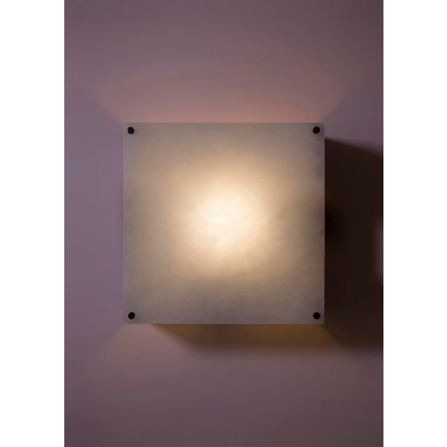2010s Modern Contemporary 000a Sconce in Alabaster and Nickel by Orphan Work For Sale - Image 5 of 6