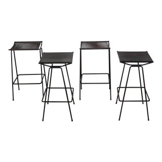 Allan Gould Iron and Rope Stools - Set of 4 For Sale