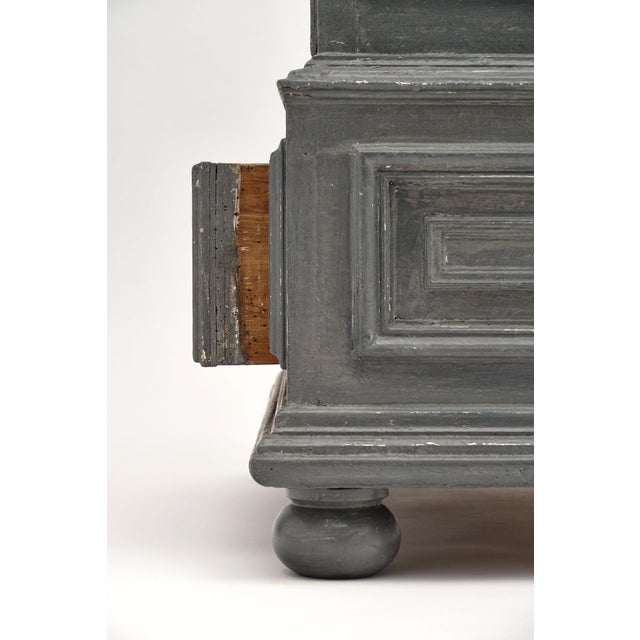 Louis XIV Style Gray Painted Bonnetiere For Sale - Image 10 of 11