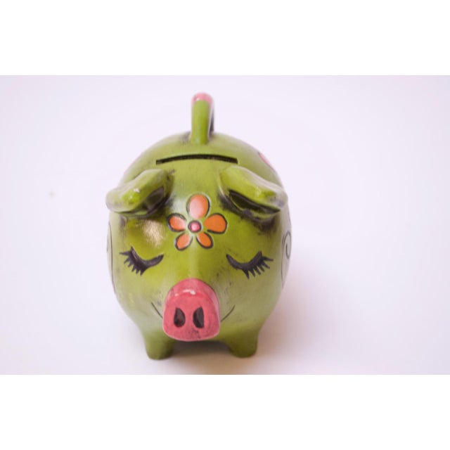 Mid-Century Modern Vintage Japanese Paper Mache Piggy Bank For Sale - Image 3 of 11