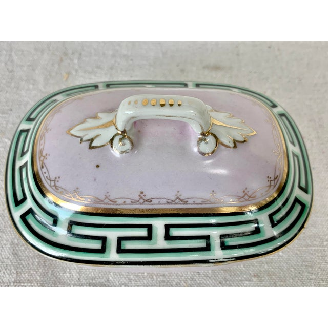 Art Deco Antique Small Greek Key Vanity Box For Sale - Image 3 of 11