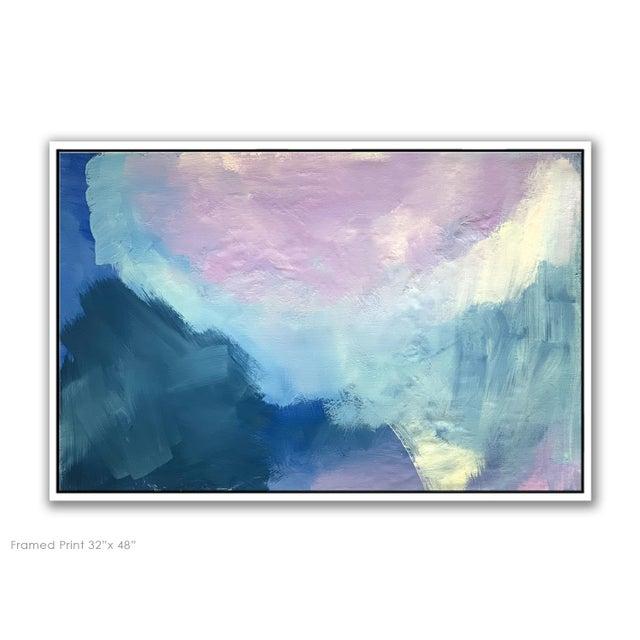 "Lavender ""Abstract Lavender Bloom"" - Framed Print 32x48 For Sale - Image 8 of 8"