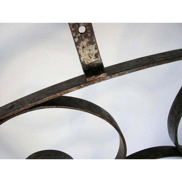 Large Scale Decorative Iron Architectural Arch For Sale In Los Angeles - Image 6 of 10