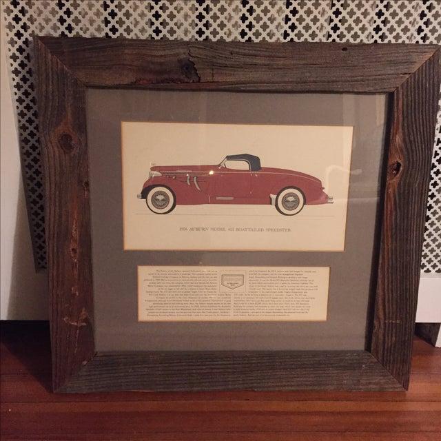 Vintage Framed 1936 Auburn Model 851 Speedster Car Print - Image 2 of 9