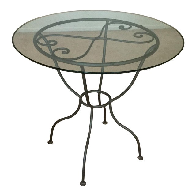 Drexel French Countryside Glass Top Round Table - Image 1 of 4