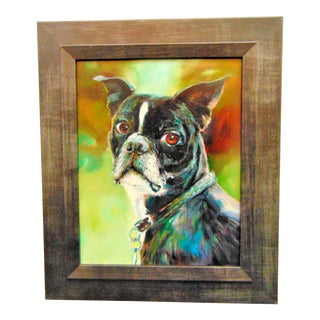 """Boston Terrier"" Oil Painting by Donna Munsch"