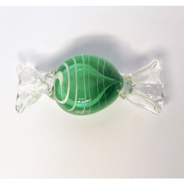 1960s Vintage A. Seguso Italian Murano Handblown Candy Paperweight For Sale - Image 6 of 6