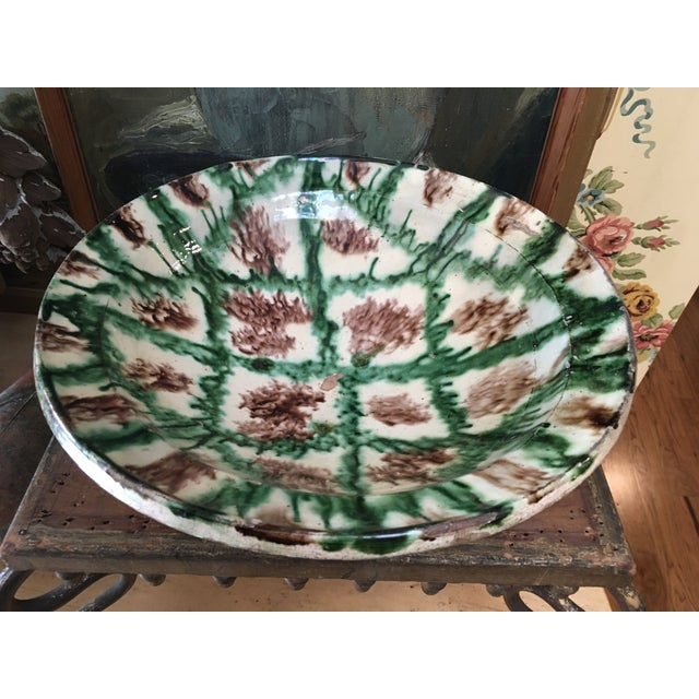 French Antique Pottery Glazed Bowl, South of France For Sale - Image 13 of 13