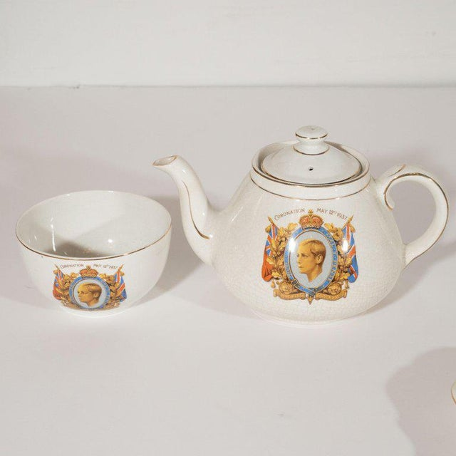 This collection of English commemorative ware consists of a 1937 Edward VIII coronation tea set, two 1837 Edward VIII...