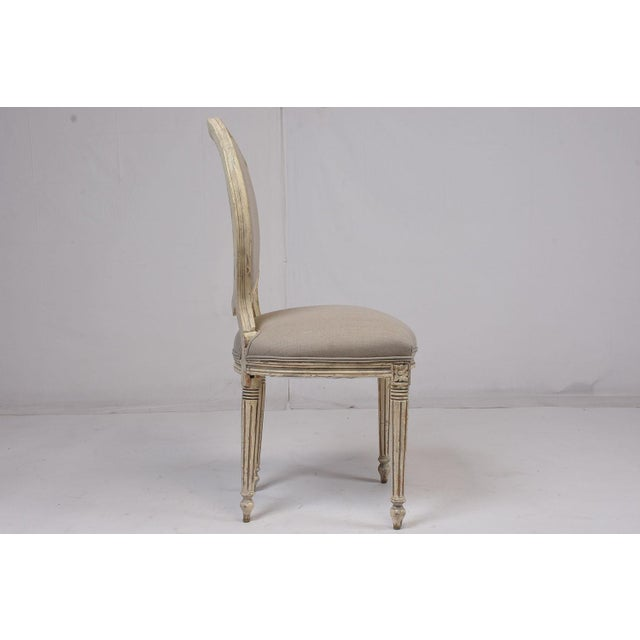 Antique French Louis XVI-Style Dining Chairs - Set of 6 - Image 4 of 10
