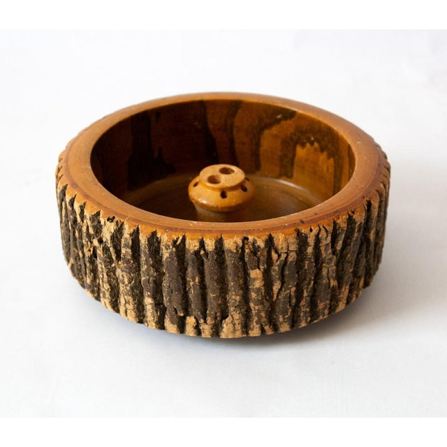 "Lovely warm 1940s nut bowl in the ""weird wood"" style, popular in souvenir items from outdoor adventures. Perfect rustic..."