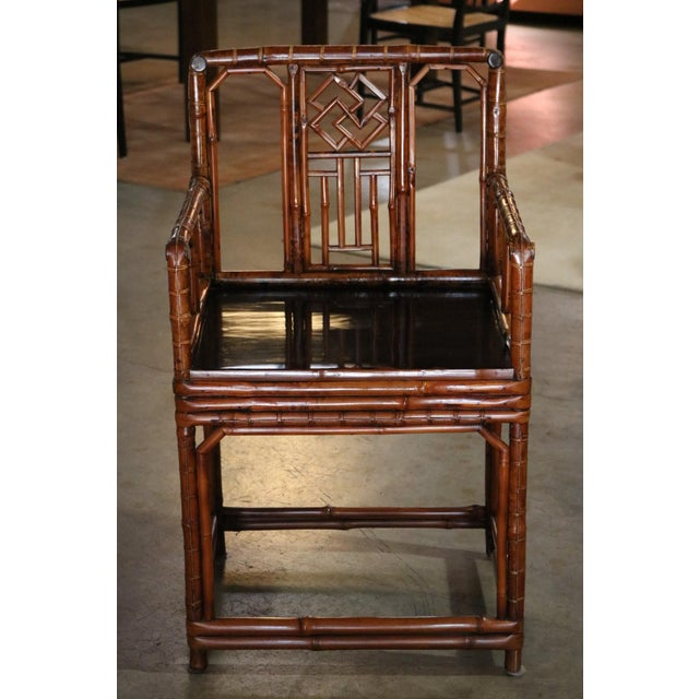 Wood Bamboo Armchair, Shanxi Province, China, Late 18th Century For Sale - Image 7 of 7