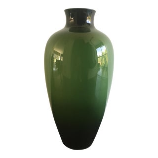 Green Vanini Vases - A Pair