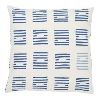 Schumacher Tiasquam Pillow in Blue For Sale