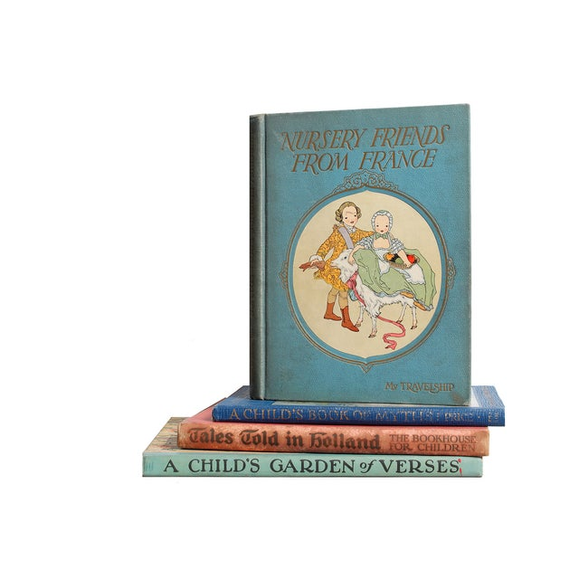 Nursery Stories Book Stack. Four vintage volumes featuring children's stories, myths and poems. Various authors and...