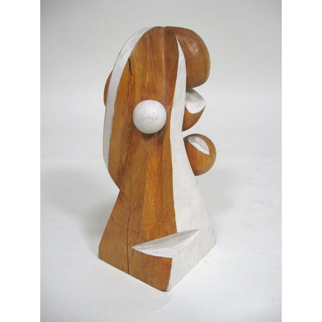 Abstract wood sculpture by Arthur Rossfield - Image 9 of 11