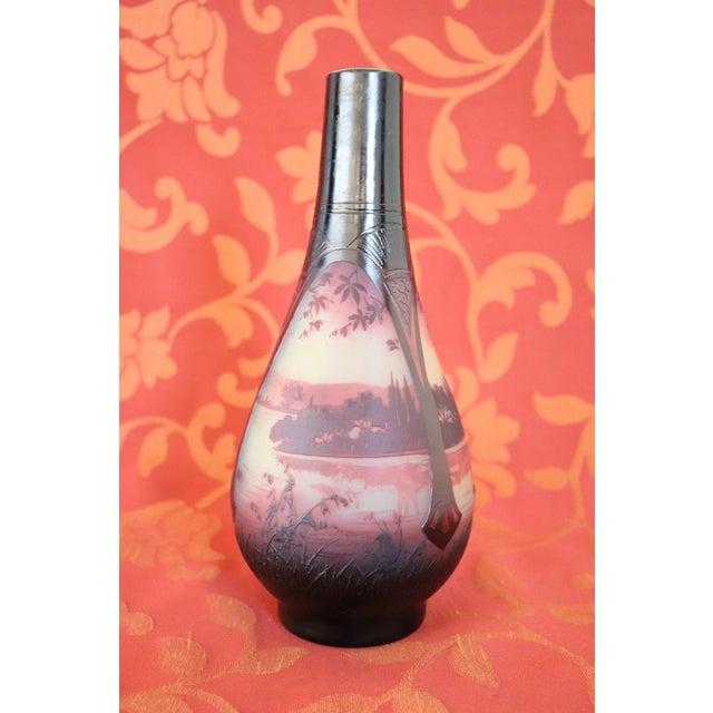 Art Nouveau 20th Century French Art Nouveau Vase in Cameo Glass, by Paul Nicolas d'Argental For Sale - Image 3 of 7