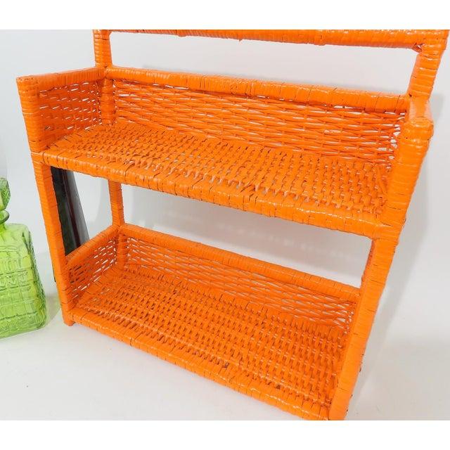 Orange Wicker Wall Shelf - Image 7 of 11