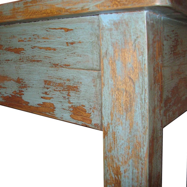 Distressed Blue Table - Image 6 of 7