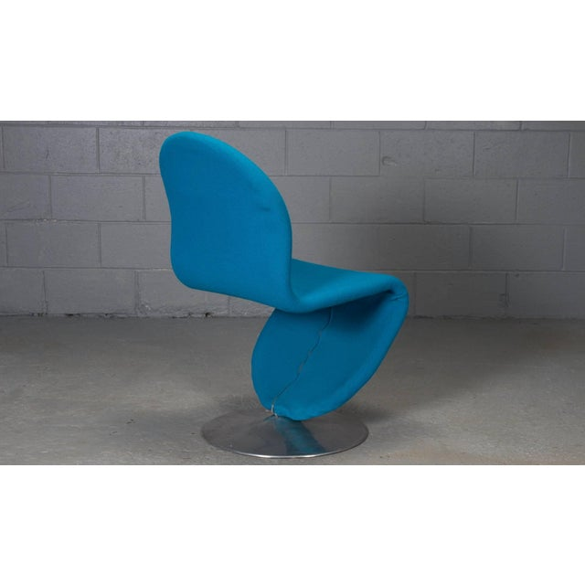 Danish Modern 1-2-3 Chairs by Verner Panton for Fritz Hansen, 1950s- Set of 6 For Sale In Boston - Image 6 of 11