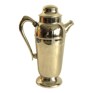 Mid Century Modernist Chrome Cocktail Shaker/Pitcher For Sale