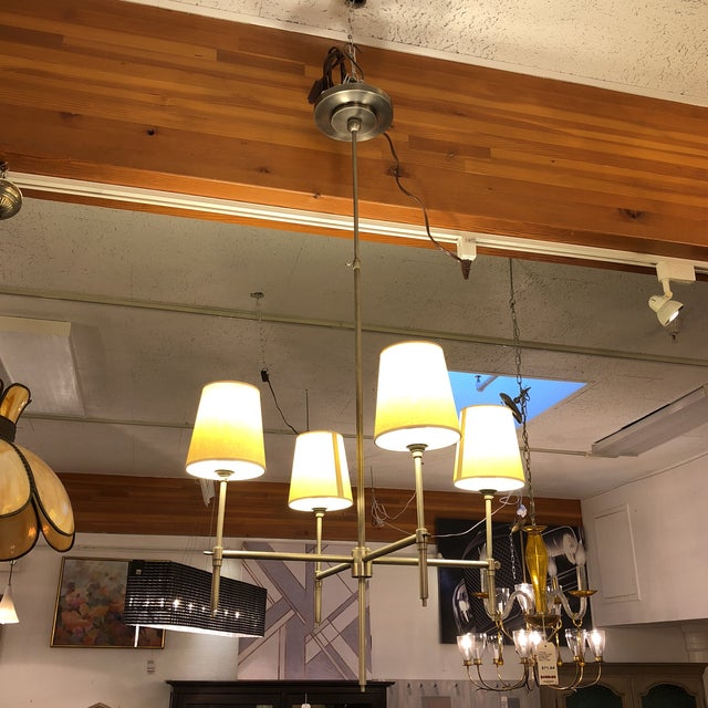 Design Plus Consignment Gallery presents a simple and elegant four-light fixture by Thomas O'Brien for Visual Comfort. The...