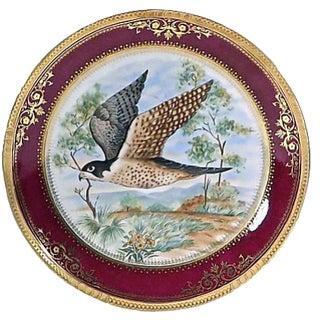 Vintage Limoges Porcelain Plate with Hawk
