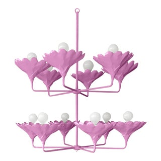 Stray Dog Designs for Chairish Arlo Chandelier, Violet For Sale