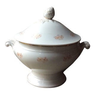 Antique 1880 French Porcelain Soup Tureen For Sale