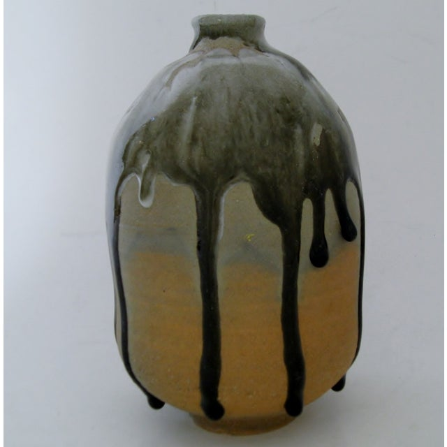 Heavy Drip Gloss Artisan Ceramic Vase - Image 5 of 7