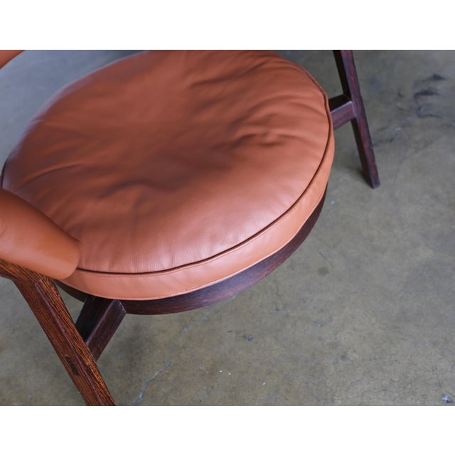 Brown Vintage Mid Century Rare Eugenio Gerli P28 Lounge Chair for Tecno For Sale - Image 8 of 12