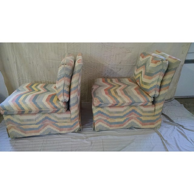 Hickory Slipper Chairs - A Pair - Image 4 of 5