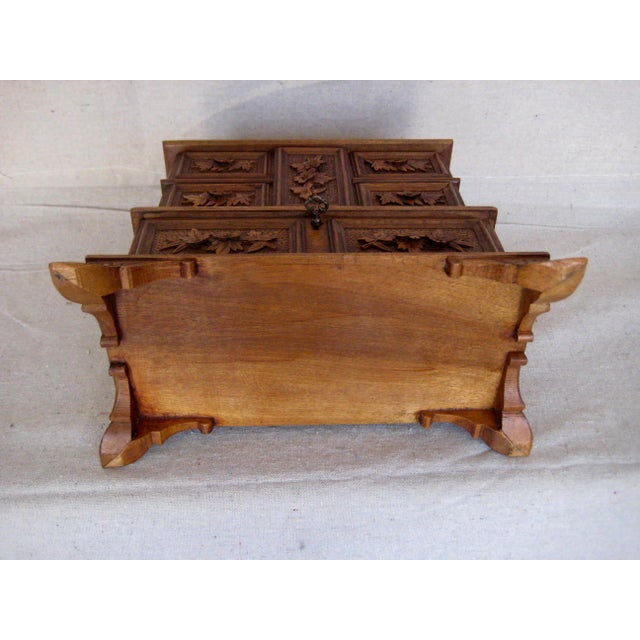 19 Century Black Forest Jewelry Box For Sale - Image 10 of 12