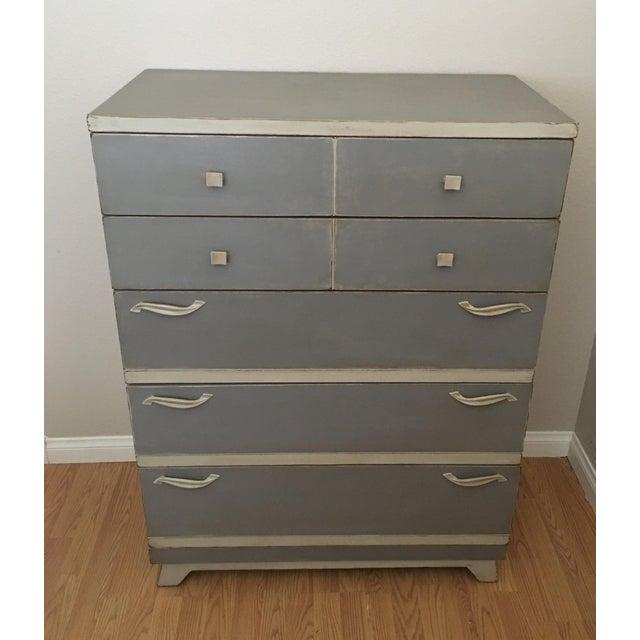 Gray Mid-Century Chest Dresser - Image 3 of 5