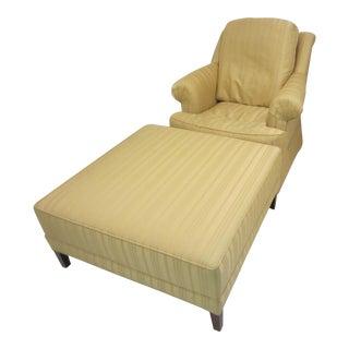 Ethan Allen Easy Chair & Ottoman For Sale