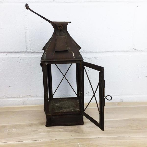 Antique Rustic French Style Candle Lantern - Image 6 of 10