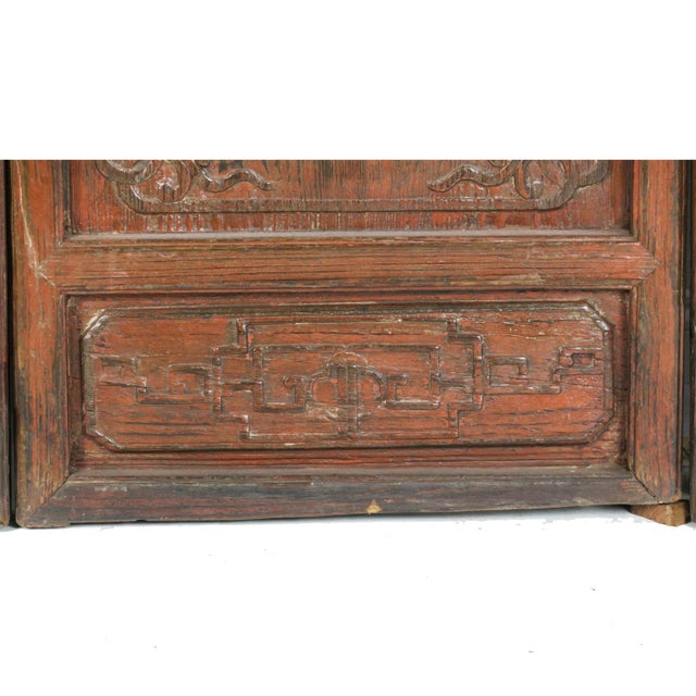 Early 20th Century Antique Chinese Carved Courtyard Doors For Sale - Image 11 of 13