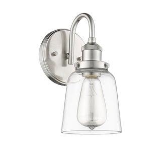 Decatur 1 Light Sconce/Vanity, Satin Nickel For Sale