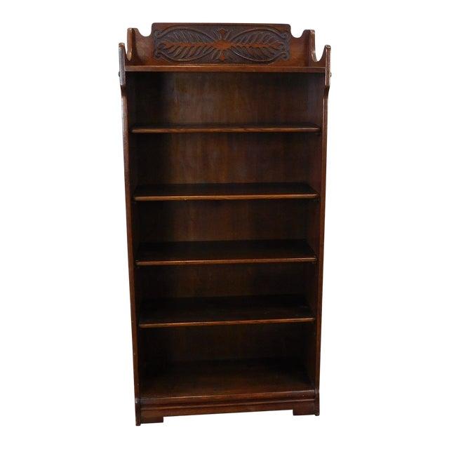 Antique 1920's Art-Nouveau Oak Bookcase - Image 1 of 7