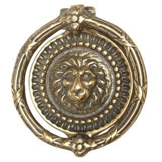 Circular Lion Head Door Knocker