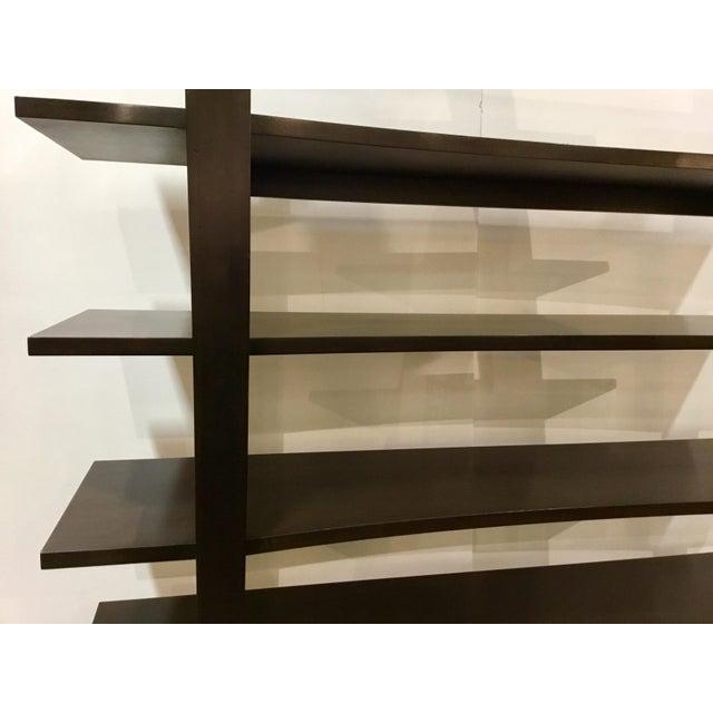 Henredon Henredon Modern Dark Walnut Finished Wood Bookcase/Etagere For Sale - Image 4 of 5